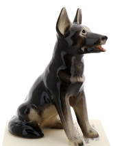 Hagen-Renaker Miniature Ceramic Dog Figurine German Shepherd Sitting image 1