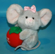 RUSS Stuffed Animal Youre the Berry Best Mouse Plush Holds Strawberry 67... - $29.00