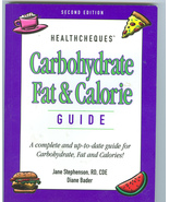 HealthCheques Carbohydrate Fat Calorie Guide  Jane Stephenson  Diane Bader - $7.99