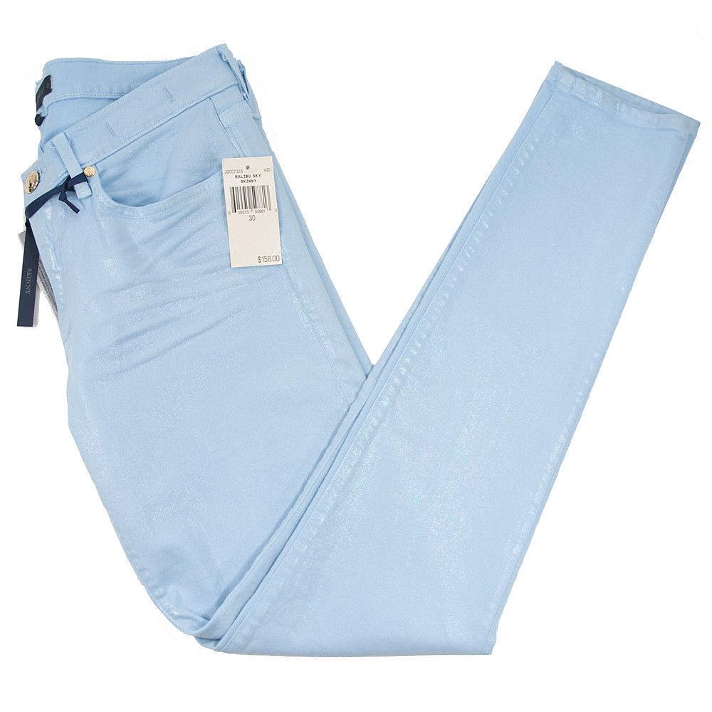 Juicy Couture Black Label Malibu Sky Iridescent Stretch Skinny Jeans 30 NWT