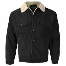 Men's Premium Classic Button Up Fur Lined Corduroy Sherpa Trucker Jacket image 2