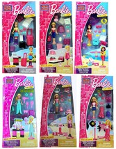 Mega Bloks Barbie Build n Style Mini Sets Lot of 6 - $29.95