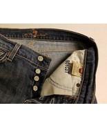 7 for All Mankind Button Fly Womens Blue Jeans Boy Cut Sz 28 Boycut Dark... - $29.99