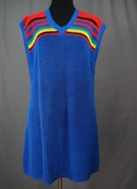 Vintage 80's Main Event Knit V-Neck Dress, Long Shirt, Medium, Retro, Hi... - $49.95