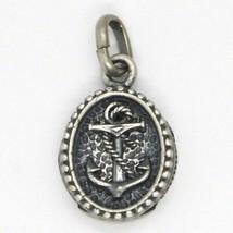 Pendentif en Argent 925, Bruni et Satin, Médaille avec Ancre et Cadre image 2