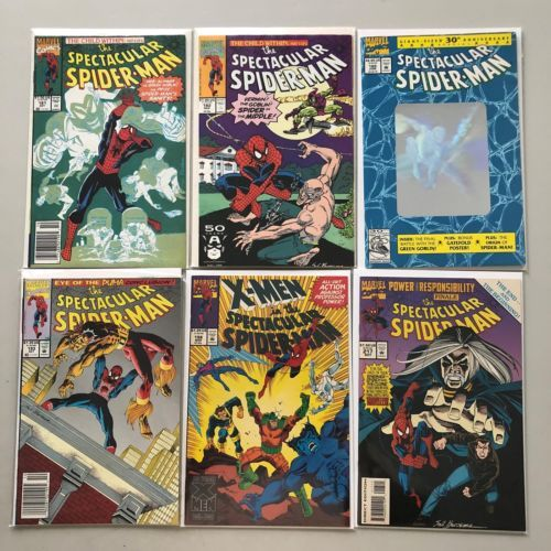 Lot of 6 Spectacular Spider-Man (1st Series) from #181-217 FN-VF Very Fine