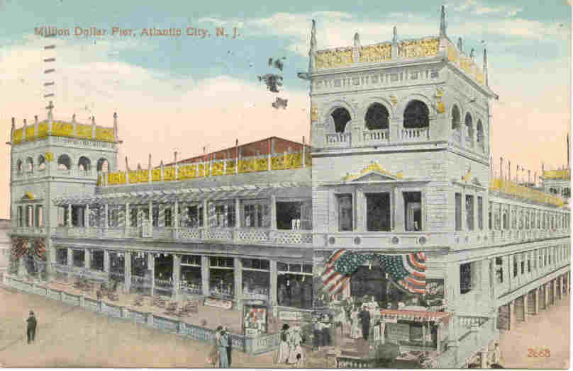 Million Dollar Pier Atlantic City New Jersey 1916 Post Card