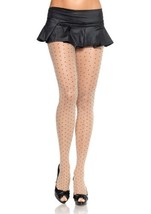 LA9169 Sheer Pantyhose With Contrast Woven Dots [Apparel] - $11.88
