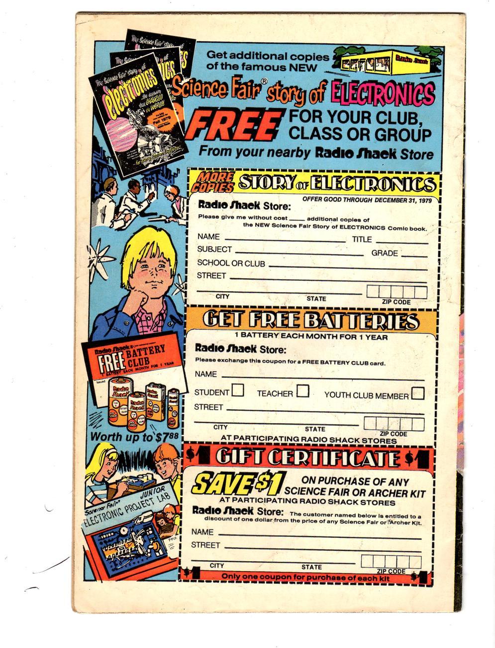 The Science Fair Story of Electronics  Radio Shack Fall 1979