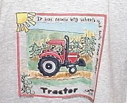Boys NWOT Gildan Gray Tractor T Shirt Youth XS
