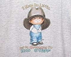 Boys NWOT Gildan Gray Grandpa Big Stuff Short Sleeve T-Shirt Size Youth XS