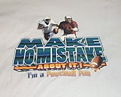 Mens NWOT Gildan White Foortball Short Sleeve T Shirt Size XL