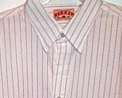 Mens NWOT Red Kap Red White Stripe Long Sleeve Shirt Size Large
