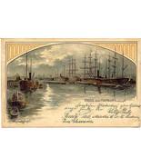 Gruss aus Hamburg Germany 1898 Vintage Post Card - $15.00
