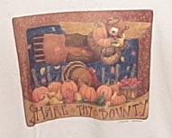 Womens NWOT Gildan Cream Thanksgiving Short Sleeve T Shirt M
