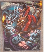 TMNT Splinter vs Shredder Glossy Print 11 x 17 In Hard Plastic Sleeve - $24.99