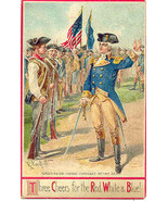 3 Cheers For The Red White and Blue Post Card  - $7.00