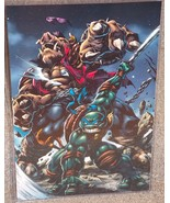 TMNT Leonardo vs Bebop Glossy Print 11 x 17 In ... - $24.99