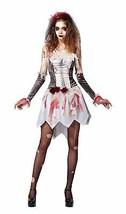 Skeleton Bride Grey/White, Womens, Halloween, Fancy Dress - $27.46