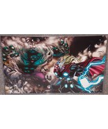Marvel Incredible Hulk vs Thor Glossy Print 11 x 17 In Hard Plastic Sleeve - $24.99
