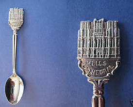 Primary image for WELLS Somerset ENGLAND Souvenir Collector Spoon UK. Collectible WELLS CATHEDRAL