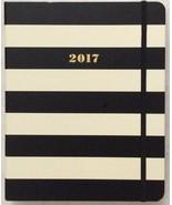 NWT Kate Spade Set The Stage 17 Month Large Agenda Book Black Stripe - $16.50