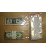 100 Self Adhesive & Resealable 3.5x7 Clear Poly BAGS for Currency Bankno... - $9.85