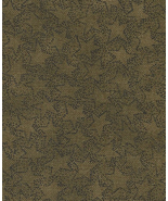 Half Yd. Olive Green Prim Stars by Buggy Barn, Henry Glass Superb Quilt ... - $3.07