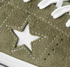 Converse Mens One Star Ox Suede 161576C Field Surplus (Olive) / White Size 9 image 8