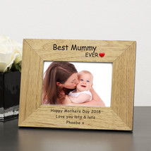 Wood Personalised Photo Frame Best Mummy Ever Mothers Day Gift Mum - $26.92