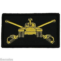 ARMY ARMOR 2 X 3  EMBROIDERED UNIFORM SHIRT BLACK PATCH WITH HOOK LOOP - $15.33