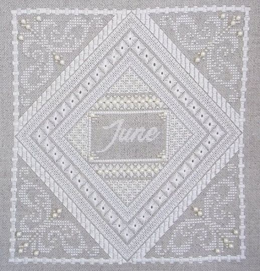 Primary image for Birthstone Series: Pearl June cross stitch chart Northern Expressions