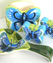 Home Essentials Butterfly Ceramic Salt/Pepper R... - $31.99