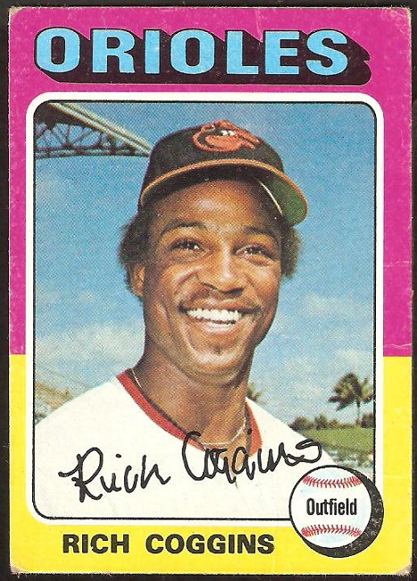 Primary image for 1975 Topps # 167 Baltimore Orioles Rich Coggins
