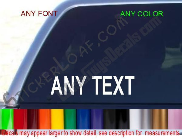 Primary image for CUSTOM Window sticker Chevy Ford Dodge Honda DECALS decal 4x4 Bumper stickers
