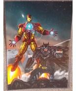Iron Man & Batman Glossy Print 11 x 17 In Hard Plastic Sleeve - $24.99