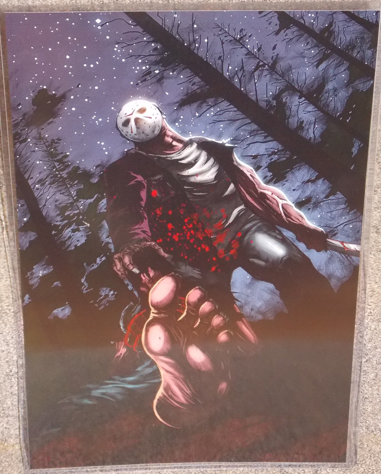 Primary image for Friday The 13th Jason Glossy Print 11 x 17 In Hard Plastic Sleeve