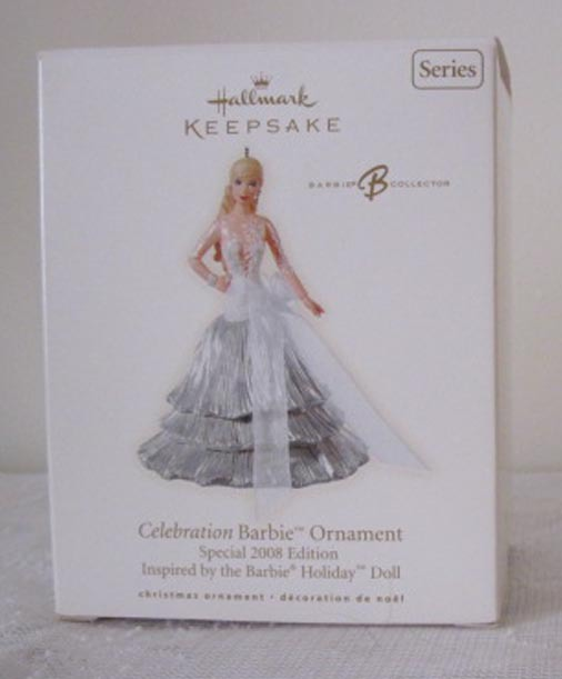 Hallmark Celebration Barbie Special 2008 Edition #9 Christmas Ornament