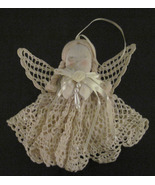 Hand Crafted Signed Angel Doll Christmas Ornament Small Wall Hanging  - $9.99