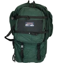 Jansport Large Green Hiking Backpack Convertible Carry-On Bag USA 90s - $98.95