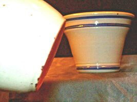 Daviess County Westerwald Pottery Honey Pot with Lid & Bowl AA-191833 image 6