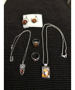 Sterling Silver Tigers Eye Collection 5 pieces - $55.00