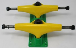 New Turbo 5.0 Pro Skateboard Trucks, 1 Set of 2 pc Yellow and Green - $20.56