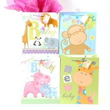 10 1/2W x 13H x 5 1/2G Large Baby Zoo Friends On Matte Gift Bag, 4 Designs, Case - $184.71