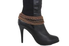 Moda Donna Stivali Bracciale Rame Catena di Metallo Cavigliera - $27.39