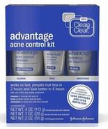 Clean & Clear Advantage Acne Control Kit 3 Piece Kit Exp 2019 NEW FREE S... - $15.88