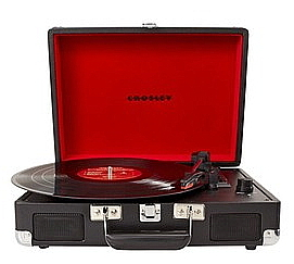 Crosley black portable turntable