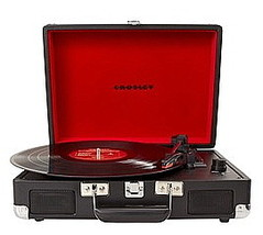 PORTABLE TURNTABLE STEREO RECORD PLAYER 4 COLORS TO CHOOSE FROM  image 1