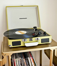 PORTABLE TURNTABLE STEREO RECORD PLAYER 4 COLORS TO CHOOSE FROM  image 7