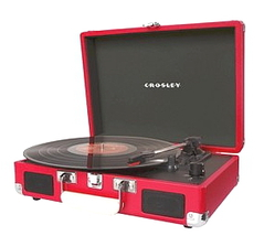 PORTABLE TURNTABLE RECORD PLAYER IN HOT PINK ELVIS PRESLEY image 4